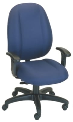 Ergocraft E-52881V Soft Sit Office Chair w/ 1-Paddle Task Control & High Back, Adjustable Seat