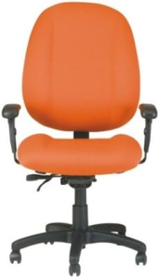 Ergocraft E-52883V Soft Sit Office Chair w/ 3-Paddle V Control & High Back, Adjustable Seat