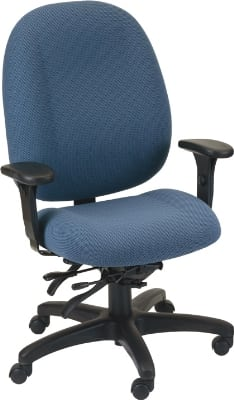 Ergocraft E-52884V Soft Sit Office Chair w/ 4-Paddle Executive Control & High Back, Tilt Lock