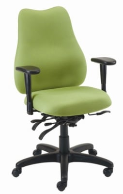 Ergocraft E-76882V Quasar Office Chair w/ 2-Paddle Deluxe Control & High Back, Adjustable Seat