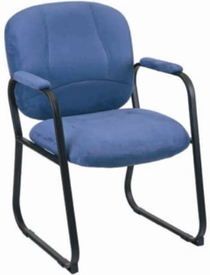 Ergocraft E-96884-SB-A75UA Titan Guest Chair w/ Upholstered Arms & Medium Back, Forward Anti-Tip Caps