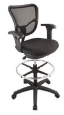 Ergocraft ECO2.5-ST Eco Series Air Mesh Chair w/ Stool Seat Height & Small Back, Adjustable Seat