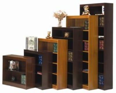 """Ergocraft L-13672 72"""" Laguna Bookcase w/ 5-Adjustable Shelf, Finished Back Panel"""