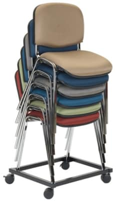 Ergocraft SS-19300-DOLLY Active Chair Dolly w/ Front Locking Castors, Stacks 7-High, Black
