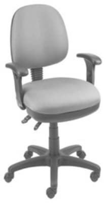Ergocraft SS-20653 Workmate Task Chair w/ Medium Back & 3-Paddle V Control, Pneumatic Seat