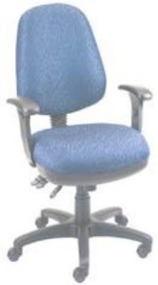 Ergocraft SS-20683 Workmate Task Chair w/ High Back & 3-Paddle V Control, Tilt Lock
