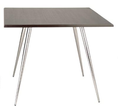 "Ergocraft TS-30436-CW Curve Lunchroom Round Table w/ 36"" Coffee Wood Top, Sleek Chrome Frame"