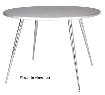 """Ergocraft TS-30536-FG Curve Round Tripod Table w/ 36"""" Frosted Glass Top, 3-Intersecting Legs"""