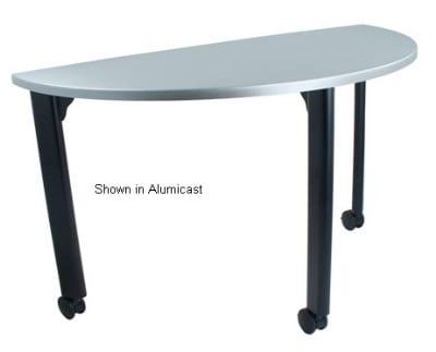 "Ergocraft TS-40451-ALD 48"" Motion Training Table w/ Locking Casters, Quarter Round, Alder"