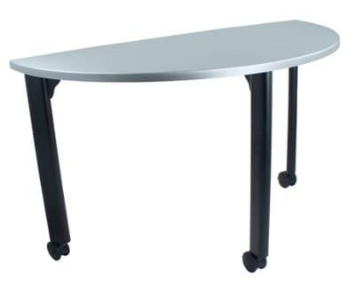 "Ergocraft TS-40451-ALU 48"" Motion Training Table w/ Locking Casters, Quarter Round, Alumicast"