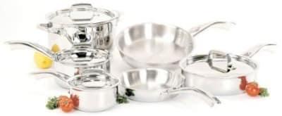Henckels 64080-001 Spirit Set; 1&2-qt Sauce, 3-qt Saute, 6-qt Dutch Oven, Lids, 10&8-qt Fry Pan