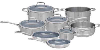 Henckels 64080-002 Spirit Set; 1&3-qt Sauce, 3-qt Saute, 6-qt Dutch Oven, Lids, 10&8-qt Fry, Insert