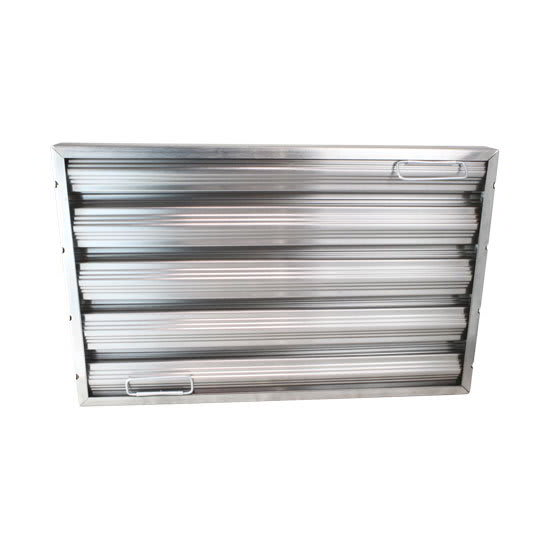 "AllPoints 26-1774 Baffle Filter, Framed, 20x16x2"", Stainless"