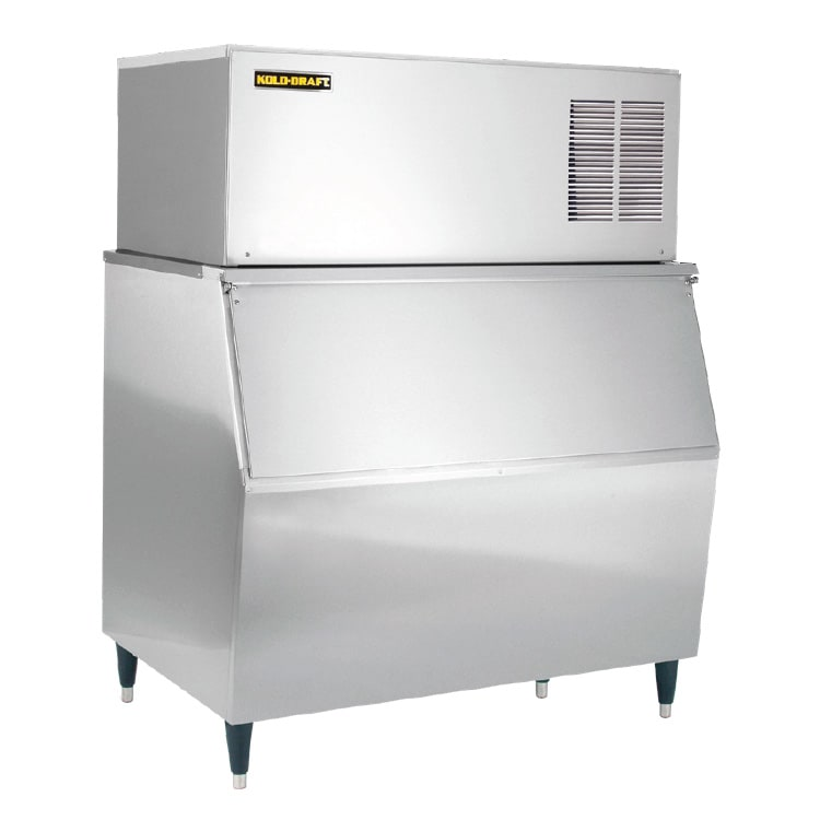 Kold-Draft GB561AC/KDB650 490 lb. Full Cube Ice Maker with Bin - 660 lb. Storage, Air Cooled, 115v