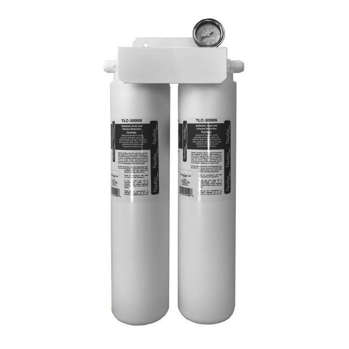 Kold-Draft TLC-107097F Double-Head Nautilus Water Filter w/ Gauge & Carbon Block Cartridge