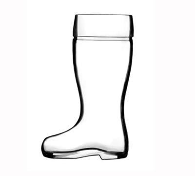 Stolzle 09735/458047 9-oz Biersiefel Beer Boot Glass