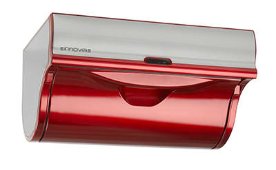 Innovia WB2-159R Automatic Paper Towel Dispenser w/ 6.5-in Round Roll Capacity, Stainless, Red