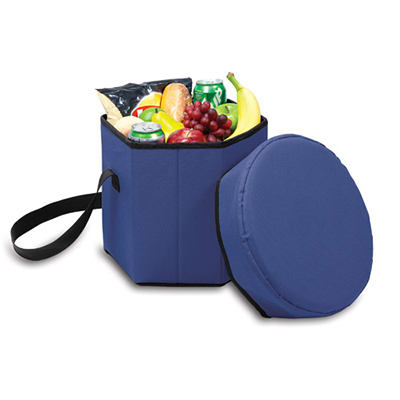 Picnic Time 596-00-138-000-0 12-qt Insulated Bongo Cooler - 250-lb Capacity, Water Resistant, Navy