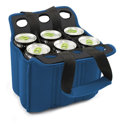 Picnic Time 608-00-139-000-0 Heavy Duty Six Pack Cooler - Holds (6) 12-oz Cans, Blue