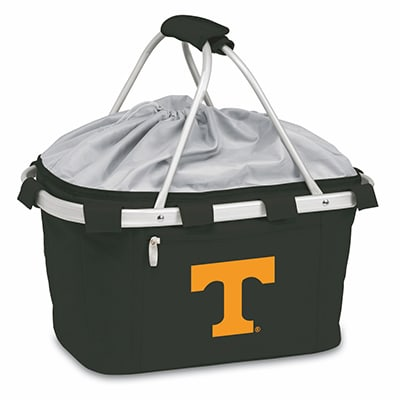Picnic Time 645-00-175-554-0 Collapsible Metro Basket - Water Resistant, Drawstring, Logo on Black