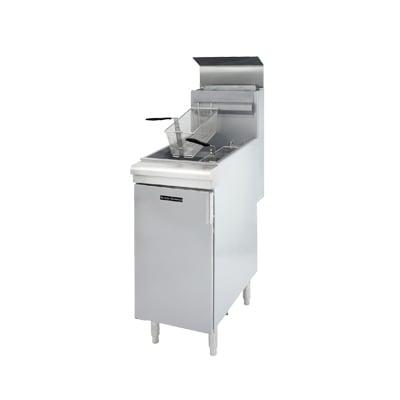 Black Diamond BDGF-90/NG Gas Fryer - (1) 40-lb Vat, Floor Model, NG