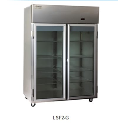 "Delfield Scientific LAF1-G 29"" Single Section Reach-In Freezer, (1) Glass Door, 115v"