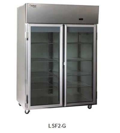 "Delfield Scientific LSF1-G 29"" Single Section Reach-In Freezer, (1) Glass Door, 115v"