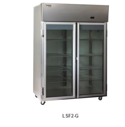 "Delfield Scientific LSF2-G 56"" Two Section Reach-In Freezer, (2) Glass Door, 115v"