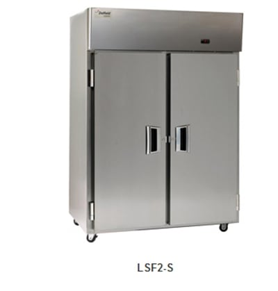 """Delfield Scientific LSF2-S 56"""" Two Section Reach-In Freezer, (2) Solid Doors, 115v"""