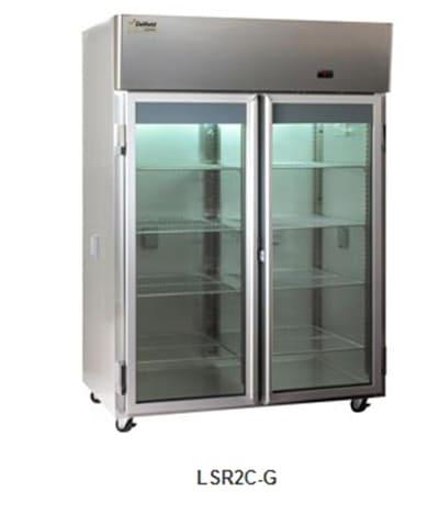 Delfield Scientific LSR1C-G Full Size Medical Refrigerator - Access Ports, 115v