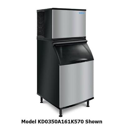 Koolaire KY-0350A161K570 400-lb/Day Half Cube Ice Maker w/ 430-lb Bin, Air Cooled, 115v