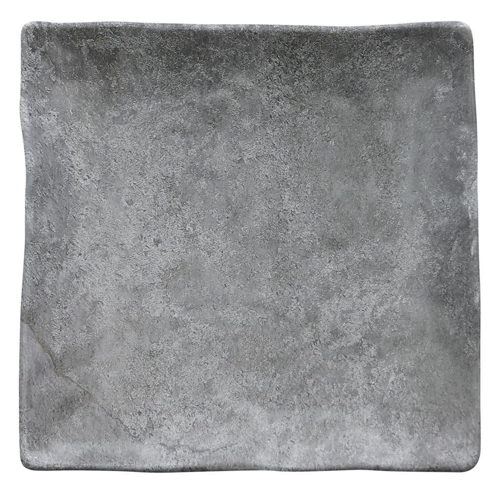 "Elite Global Solutions D10134SQ 10"" Square Basalt Plate - Melamine, Coal"