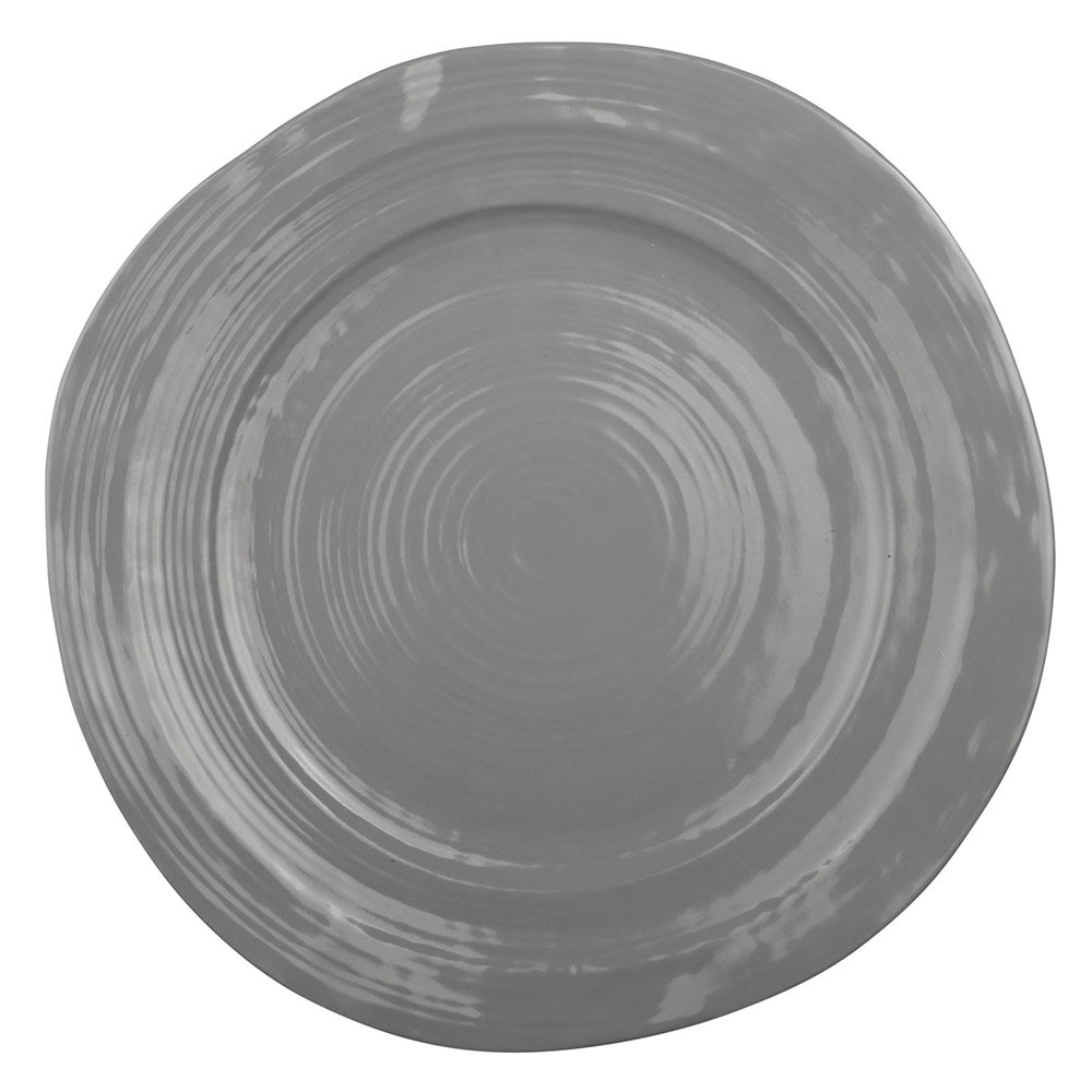 "Elite Global Solutions D101-G 10"" Round Della Terra Plate - Melamine, Gray"
