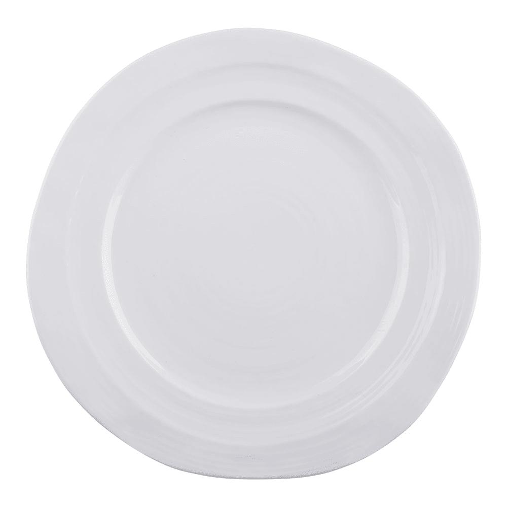 "Elite Global Solutions D101-W 10"" Round Della Terra Plate - Melamine, White"