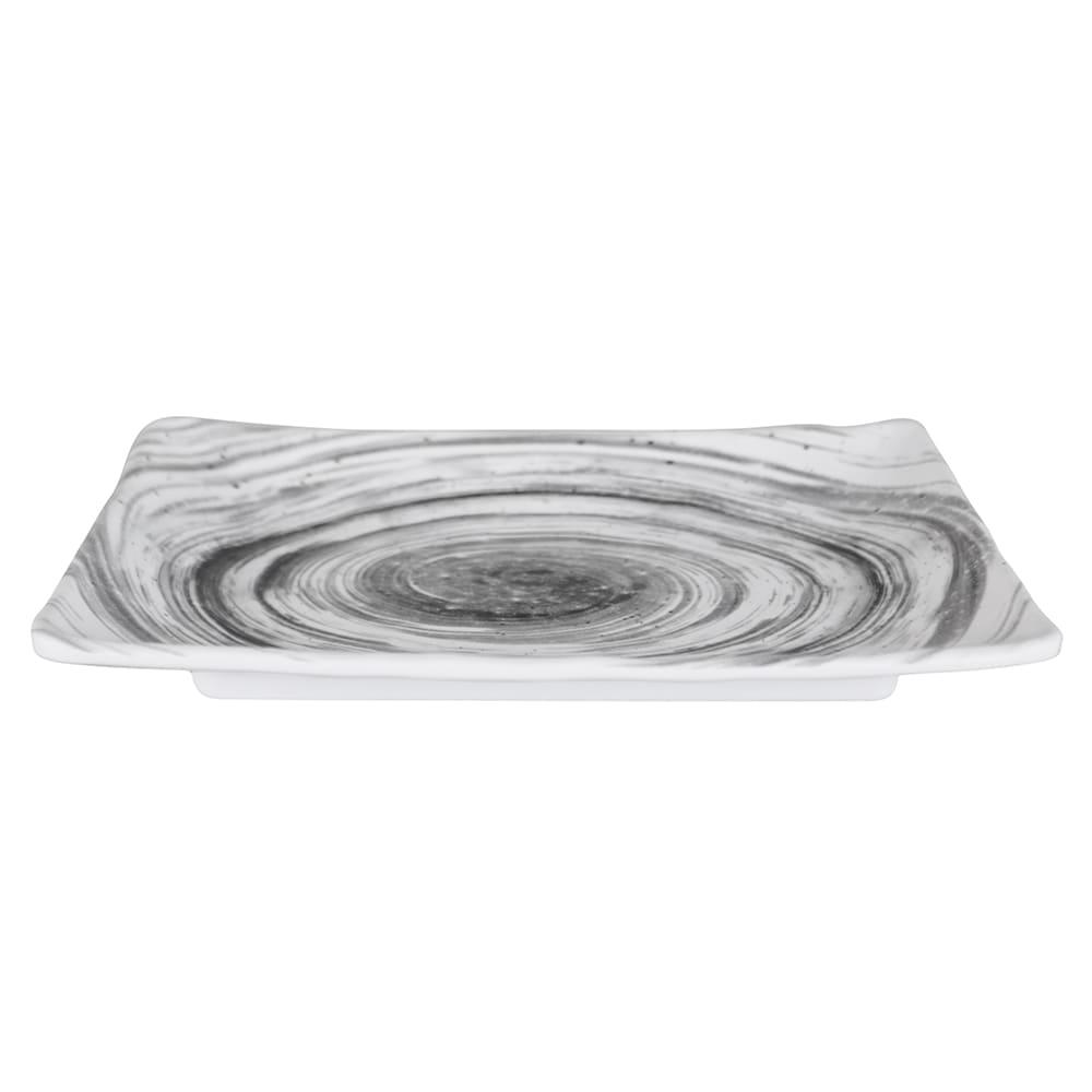 "Elite Global Solutions D1061RC Rectangular Van Gogh Plate - 10"" x 6.75"", Melamine, Black"
