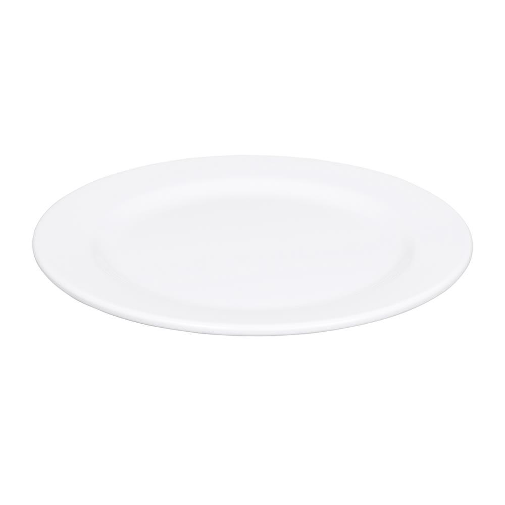 """Elite Global Solutions D1075PL-W 10.75"""" Merced Plate - Melamine, White"""