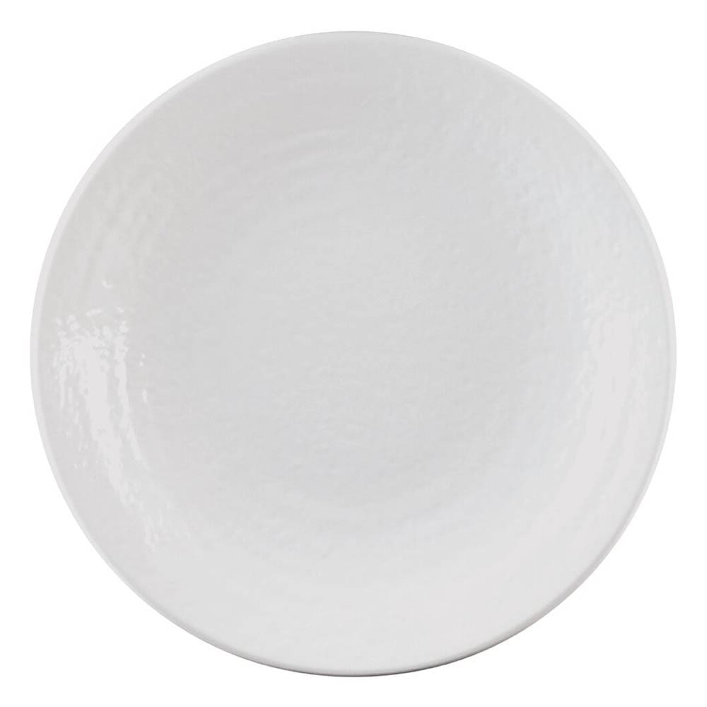 "Elite Global Solutions D10RR-W 10"" Pebble Creek Plate - Melamine, White"