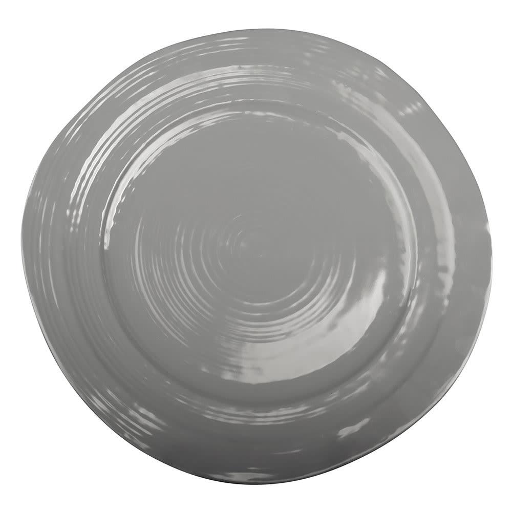 "Elite Global Solutions D1134-G 11.75"" Round Della Terra Plate - Melamine, Gray"