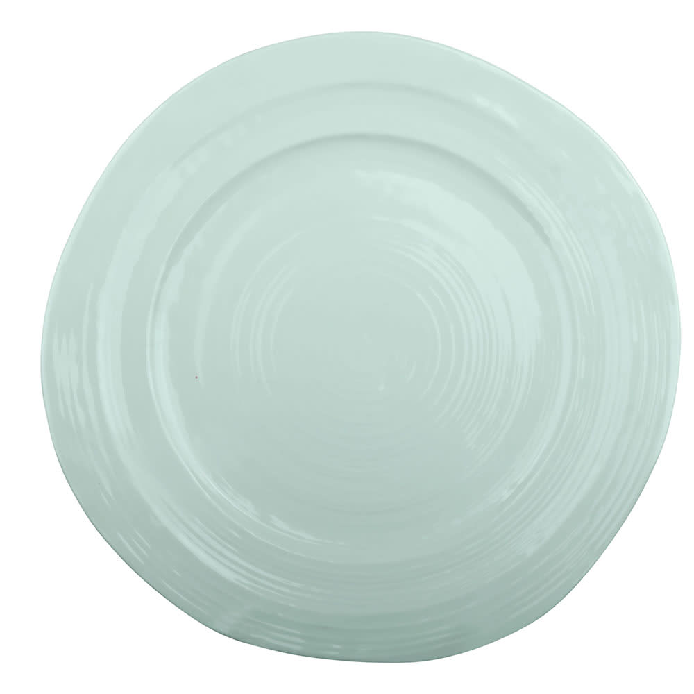 "Elite Global Solutions D1134-MG 11.75"" Round Della Terra Plate - Melamine, Mint Green"