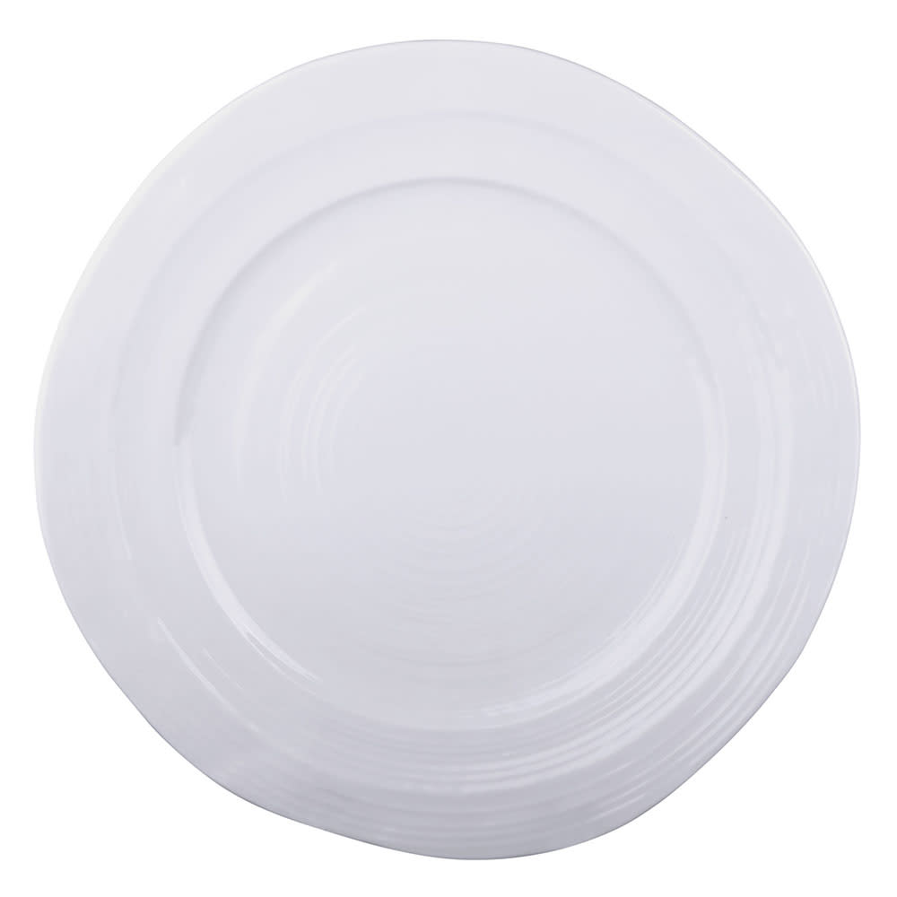 "Elite Global Solutions D1134-W 11.75"" Round Della Terra Plate - Melamine, White"
