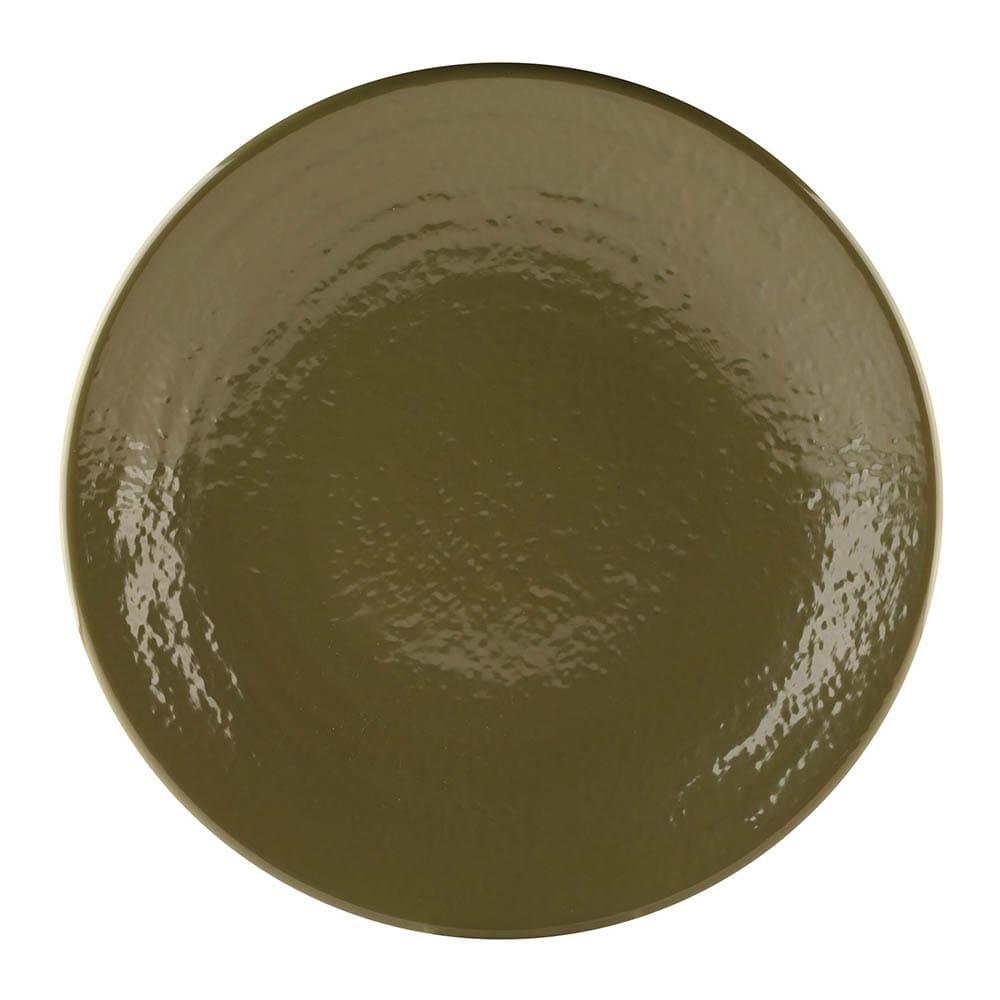 "Elite Global Solutions D117RR 11.87"" Round Pebble Creek Plate - Melamine, Lizard"