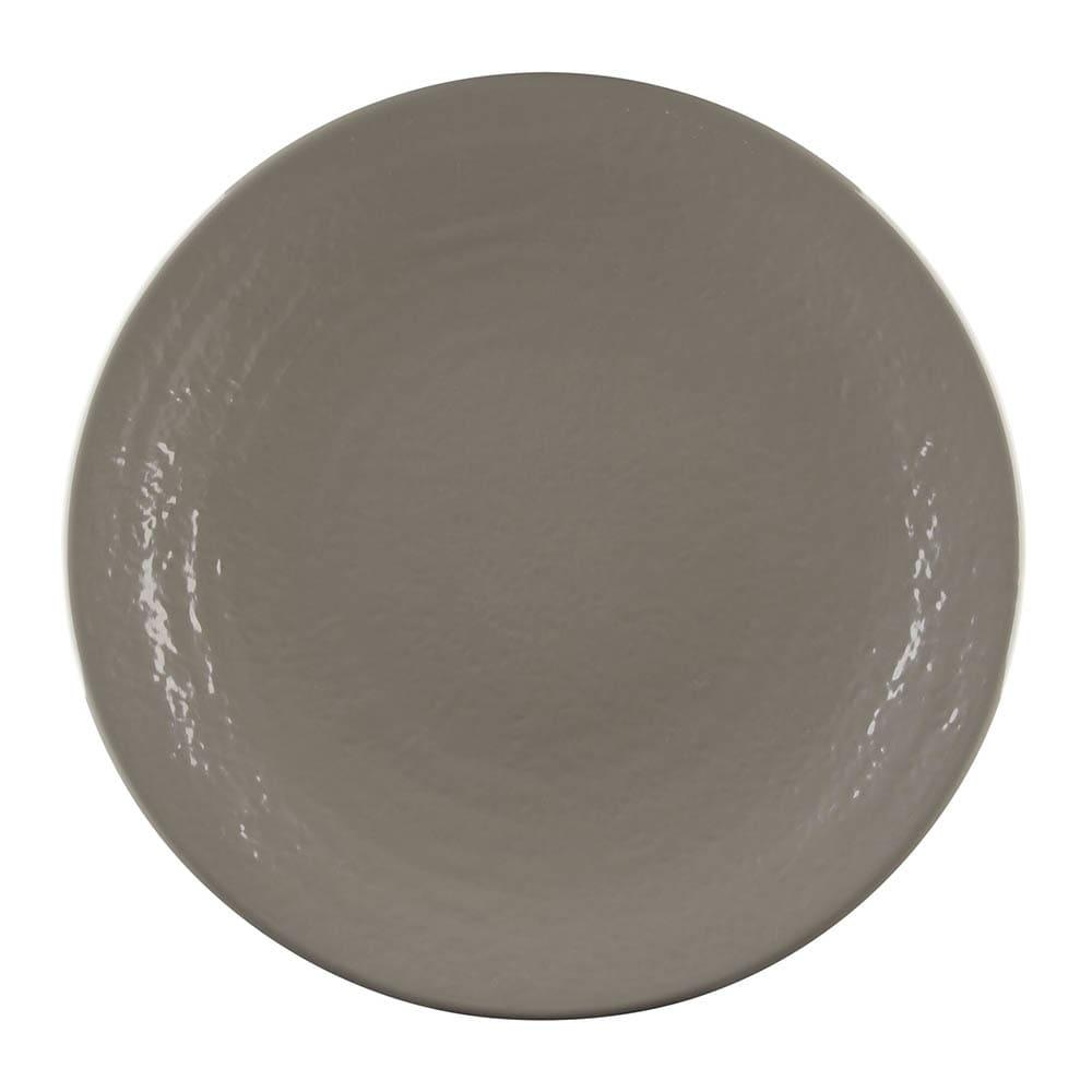 "Elite Global Solutions D117RR 11.87"" Round Pebble Creek Plate - Melamine, Mushroom"