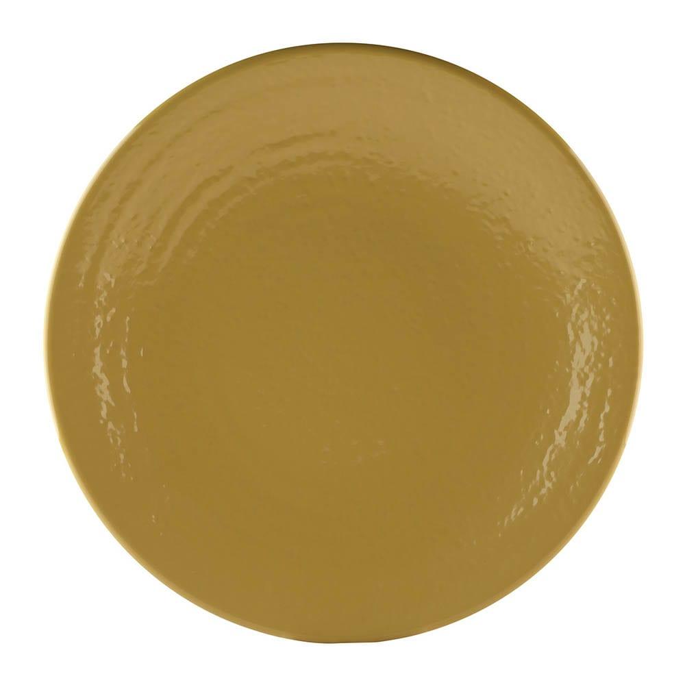 "Elite Global Solutions D117RR 11.87"" Round Pebble Creek Plate - Melamine, Olive Oil"