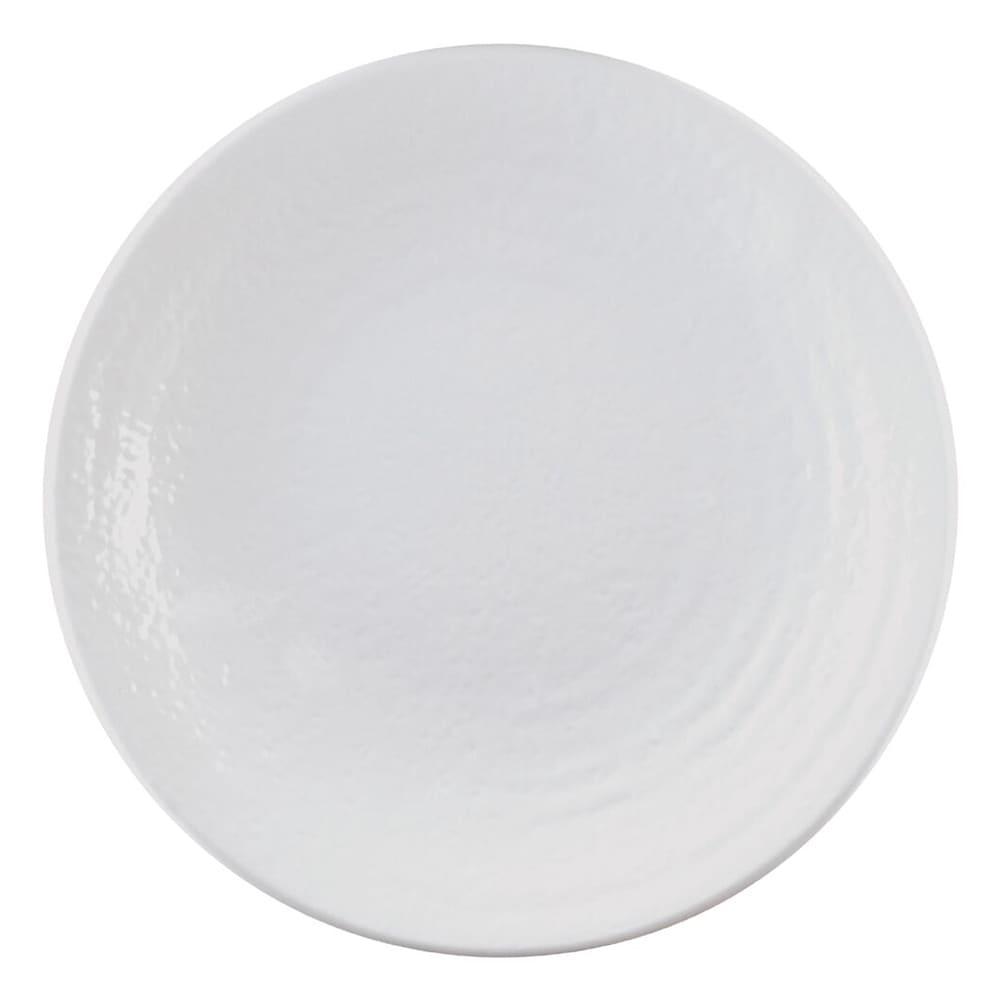 "Elite Global Solutions D117RR 11.87"" Round Pebble Creek Plate - Melamine, White"