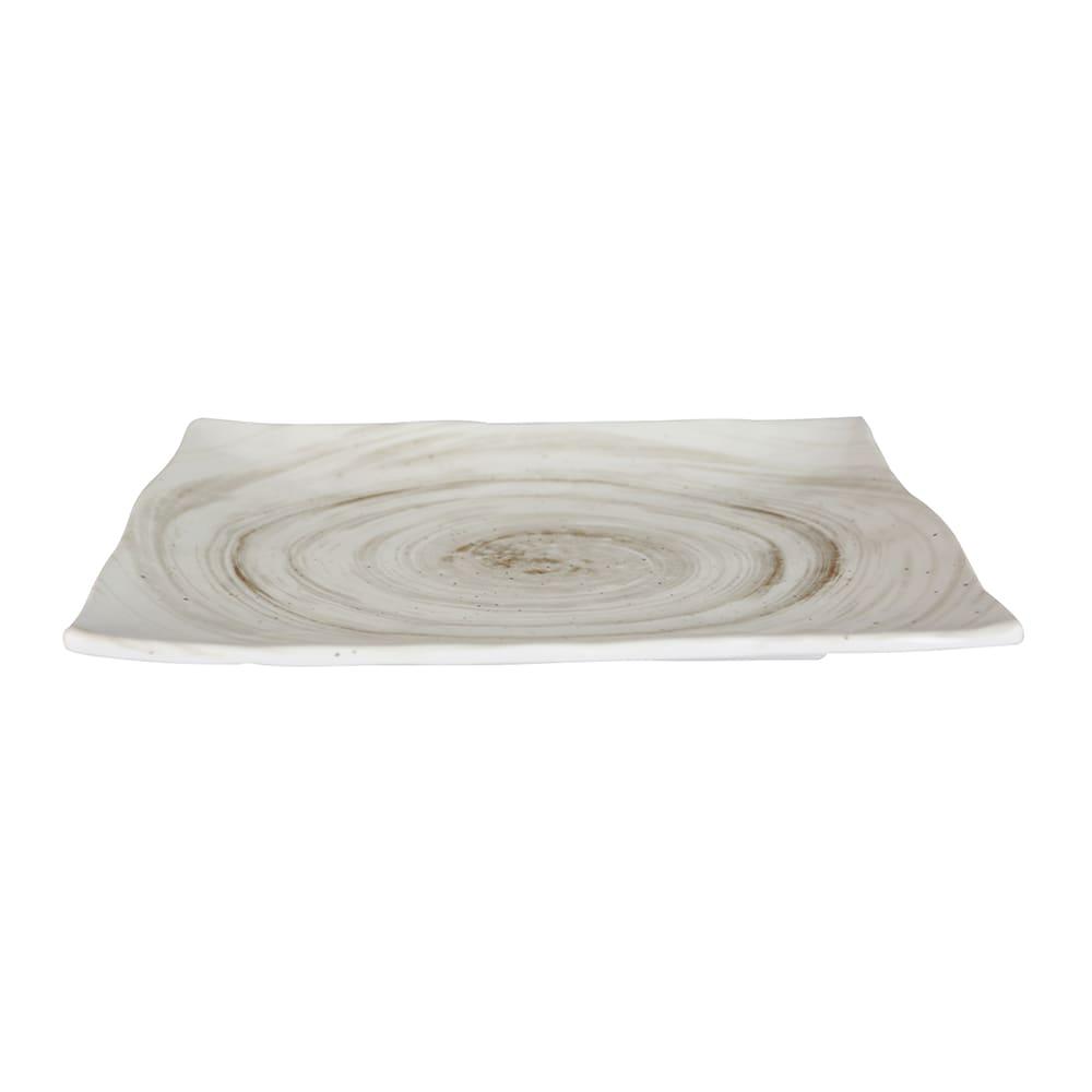 "Elite Global Solutions D1281RC Rectangular Van Gogh Plate - 12.13"" x 8.5"", Melamine, Taupe"