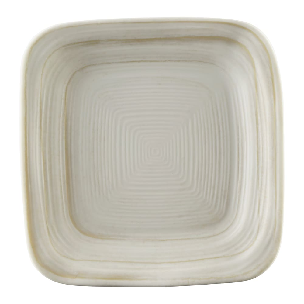 "Elite Global Solutions D5PLST 5"" Square Della Terra Plate - Melamine, Off-White Stone"