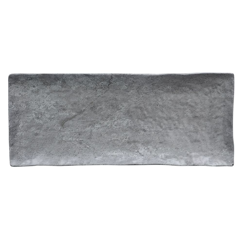 "Elite Global Solutions D61215RC Rectangular Basalt Plate - 15-3/8"" x 6-1/2"", Melamine, Coal"