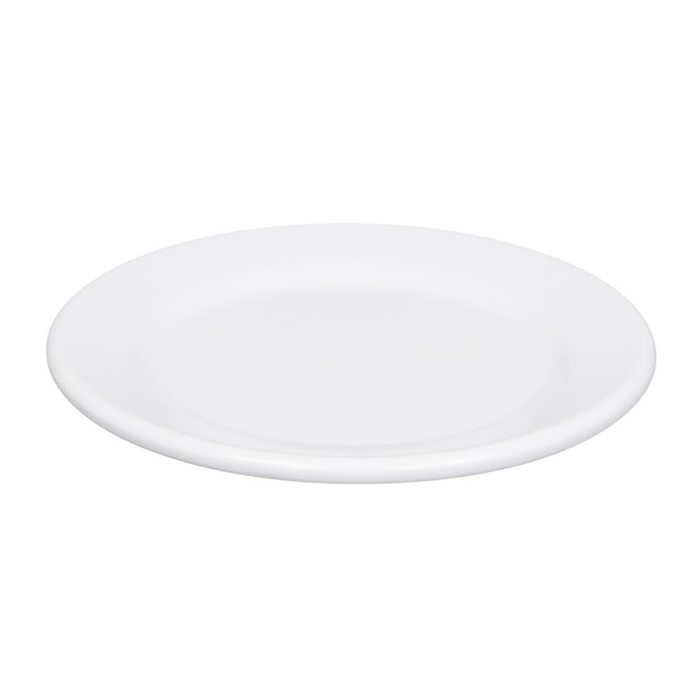 """Elite Global Solutions D612PL-W 6.5"""" Merced Plate - Melamine, White"""