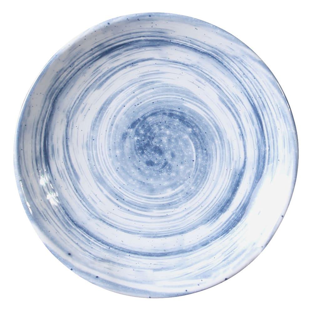 """Elite Global Solutions D61R 6.13"""" Round Van Gogh Plate - Melamine, Navy"""