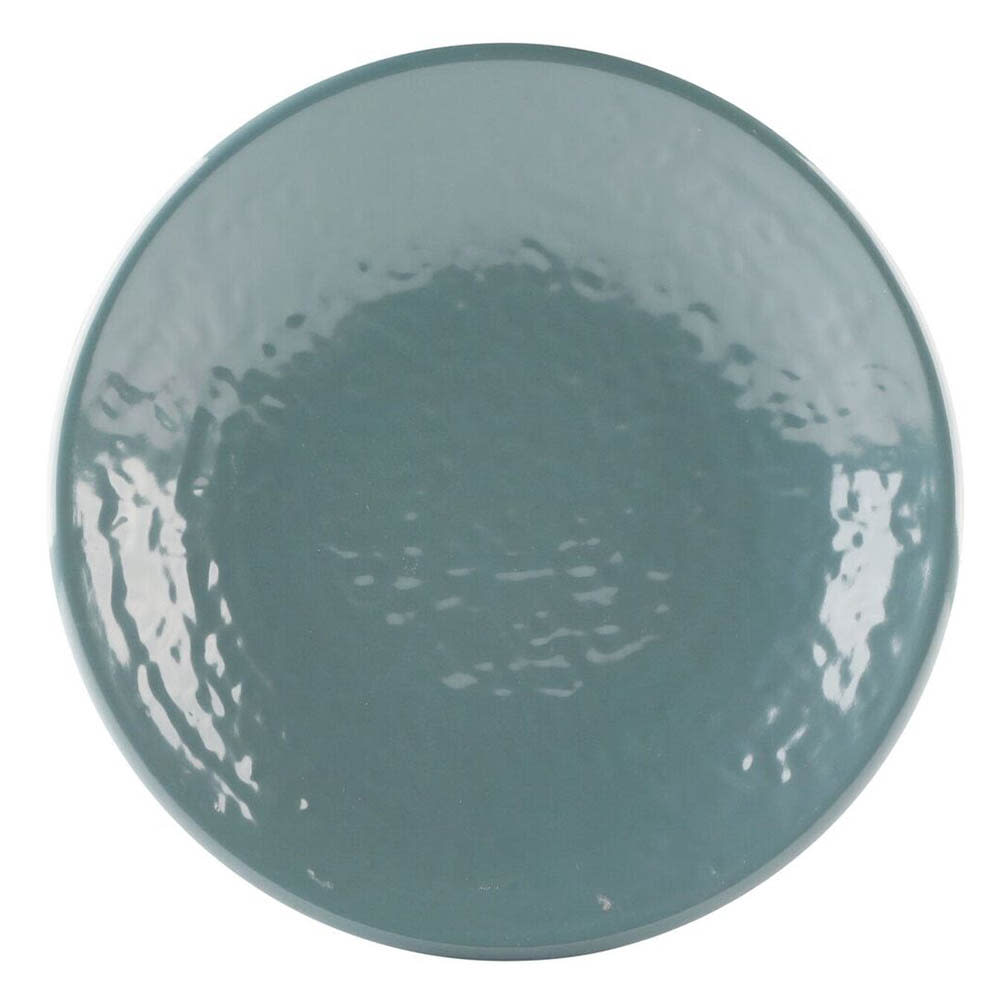 "Elite Global Solutions D638RR 6.38"" Round Pebble Creek Plate - Melamine, Abyss"